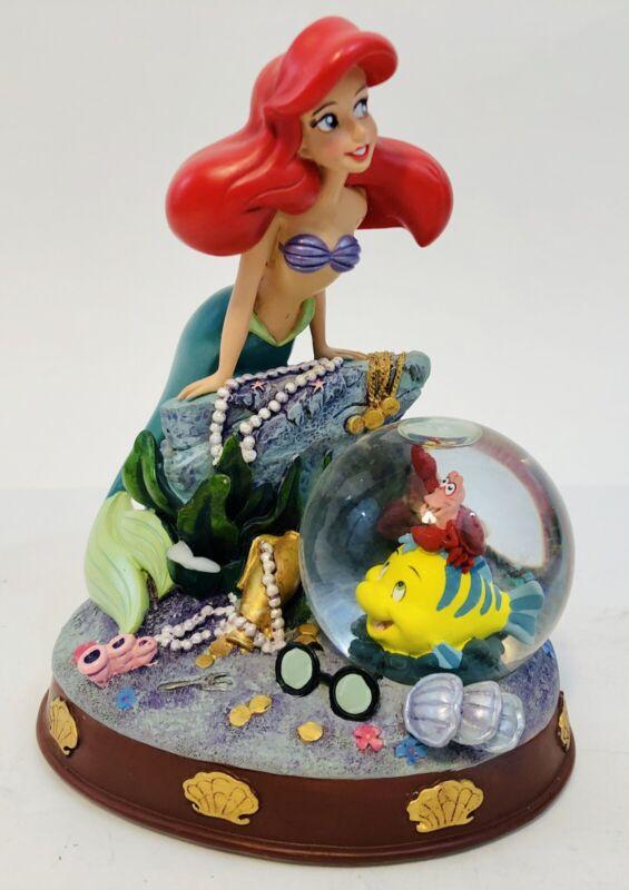 Disney Little Mermaid Areial Figure Under The Sea Treasure Snowglobe EUC
