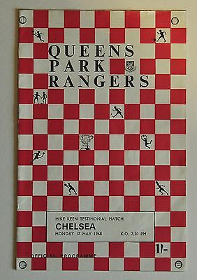 QPR v. CHELSEA - MIKE KEEN TESTIMONIAL MATCH  PROGRAMME 13 MAY 1968