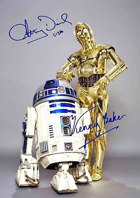 STAR WARS ANTHONY DANIEL KENNY BAKER C3P0 R2D2 Signed Autograph PRINT 6x4' GIFT