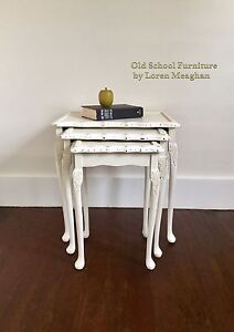 Gorgeous ornate nesting tables