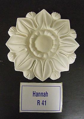 """Plaster Ceiling Rose  7"""" (178mm) diameter """"Hannah"""" Design"""