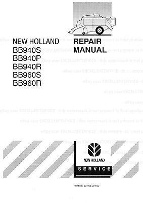 New Holland Bb940 Bb960 Big Baler Printed Bound Repair Service Workshop Manual