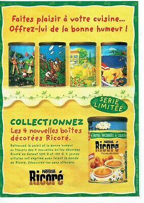 Publicité Advertising 320 1998 Ricoré Nestlé chicorée café soluble série limité