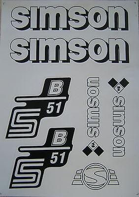 Aufkleber Set  S51B  Seitendeckel/ Tank weiß