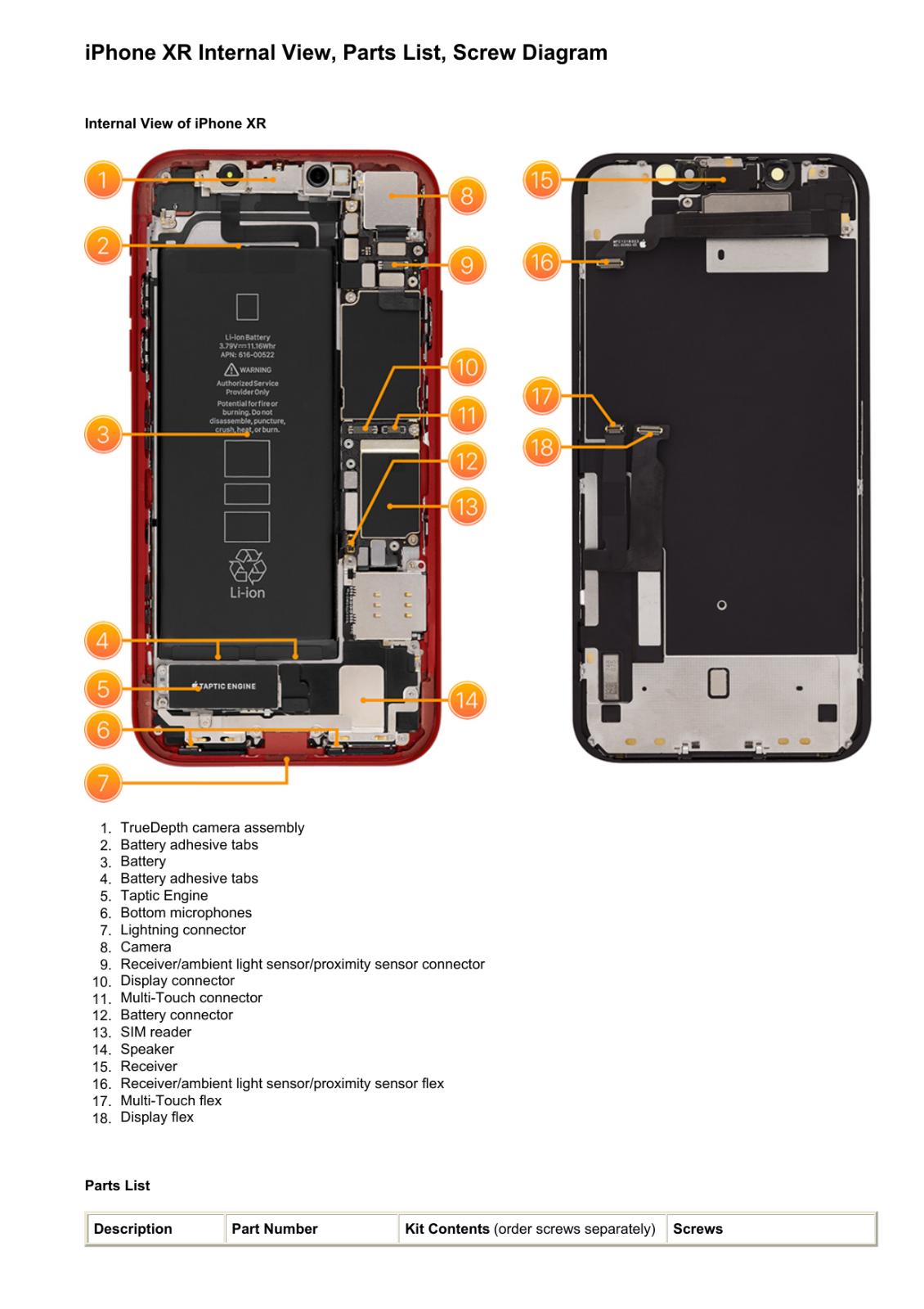как выглядит Apple iPhone XR Technician Guide Service Manual фото