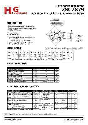 4PCS 2SC2879 MQ+1 5 PCS 2SC2879 HG build by China HG semiconductor HuaGao