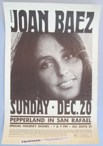 Original Concert Poster: JOAN BAEZ at Pepperland, San Rafael, California, 1970