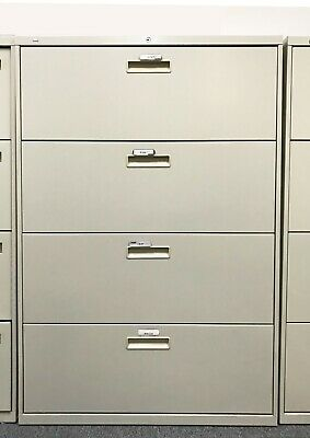 Hon 4-drawer Lateral File Cabinet 36 W X 19.25 D X 53 H