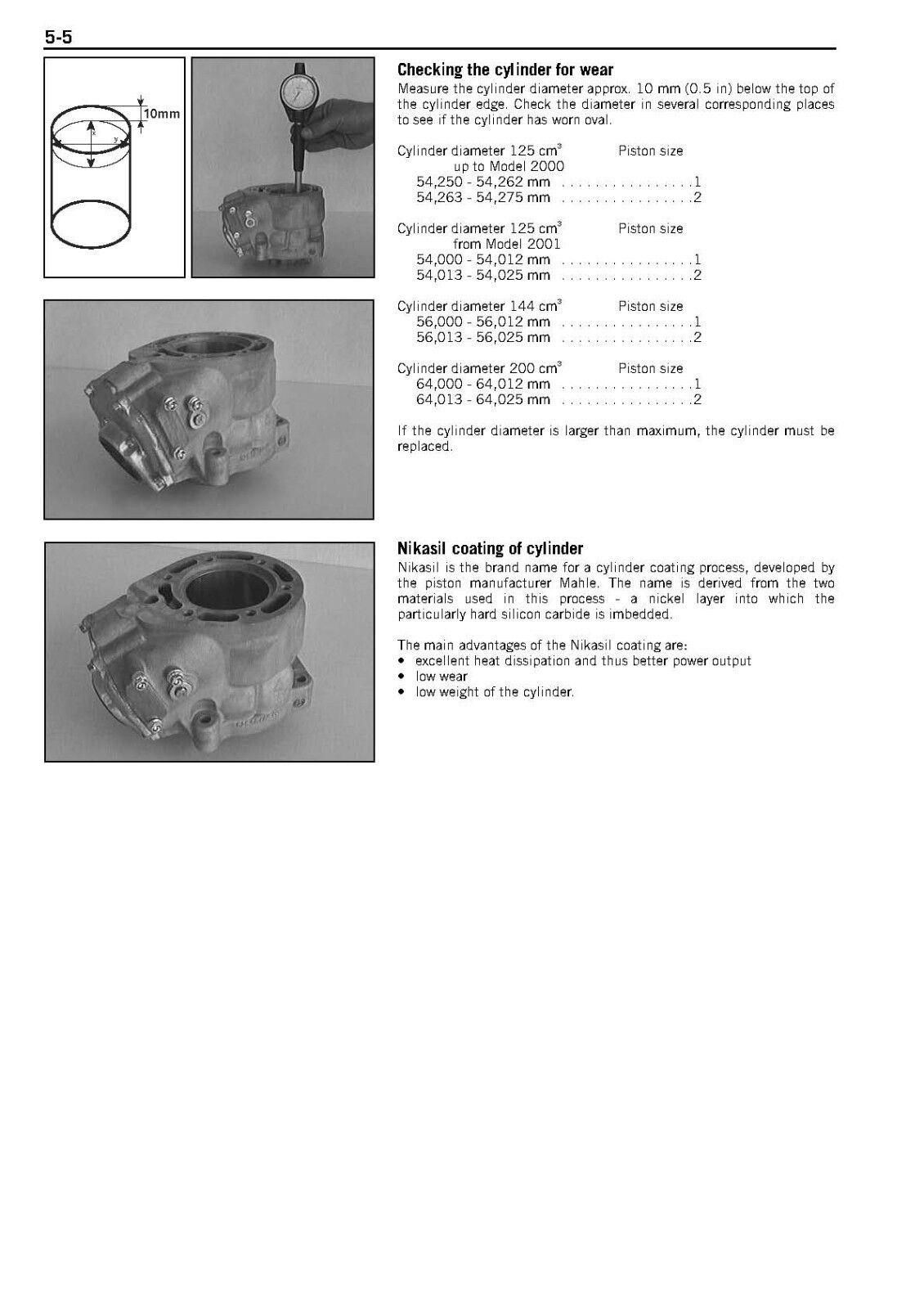 Ktm Engine Service Workshop Shop Repair Manual Book 1999 200 Exc Wiring Diagram 2006 5 Of 12 6