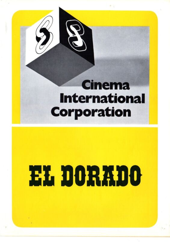 El Dorado German press kit John Wayne, Robert Mitchum, James Caan, Charlene Holt