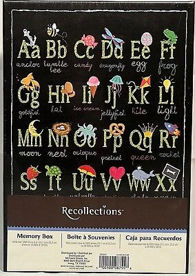 RARE Recollections PICTURE ALPHABET KEEPSAKE Storage Shoe Photo MEMORY BOX VHTF