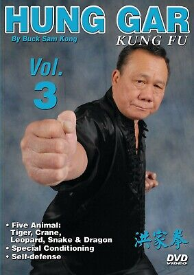 Hung Gar Kung Fu #3 tiger, crane, leopard, snake, dragon DVD Buck Sam Kong