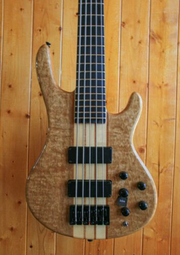AIO Wolf S7-5 5 String Bass Guitar - Natural