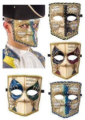 Herren Bauta Venezianischen Maske Maskerade Maskenball Kostüm Karneval Halloween
