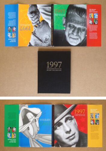 UNIVERSAL HORROR CLASSIC MONSTER STAMP Karloff Frankenstein 1997 USPS BOOK