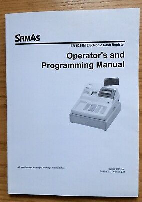 Sam4s Er-5215m Electronic Cash Register Operators And Proramming Manual