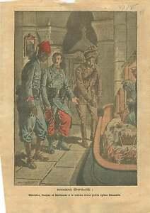 """WWI Caricature Poilus Tirailleurs Sénégalais Crèche Rois Mages 1915 ILLUSTRATION - France - Commentaires du vendeur : """"OCCASION"""" - France"""