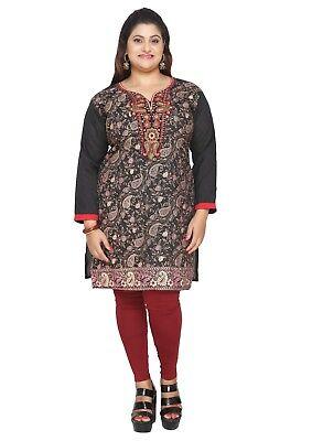 Uk Stock   Plus Size    Women Kurta Indian Kurti Tunic Shirt Dress Eplus117a