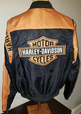 Harley Davidson Mens Riding Jacket Large 97068 Embroidered Lettering