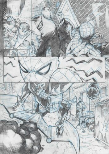 Spiderman Original Page - Sergi Domenech Signed