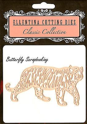 TIGER Zoo Wildlife Craft Cutting Die Ellentina Die DCN107 Tessler Crafts New (Zoo Craft)