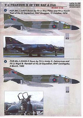 Print Scale Decals 1/72 MCDONNELL DOUGLAS F-4 PHANTOM II Royal Air Force & FAA