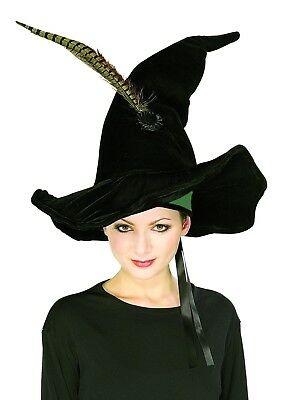 McGonagall Hat Feathers Costume Harry Potter Witch Hat Adult Teen (Harry Potter Witch Costume)