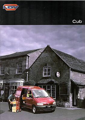 LDV Cub Van 2.3D 1998-99 UK Market Sales Brochure