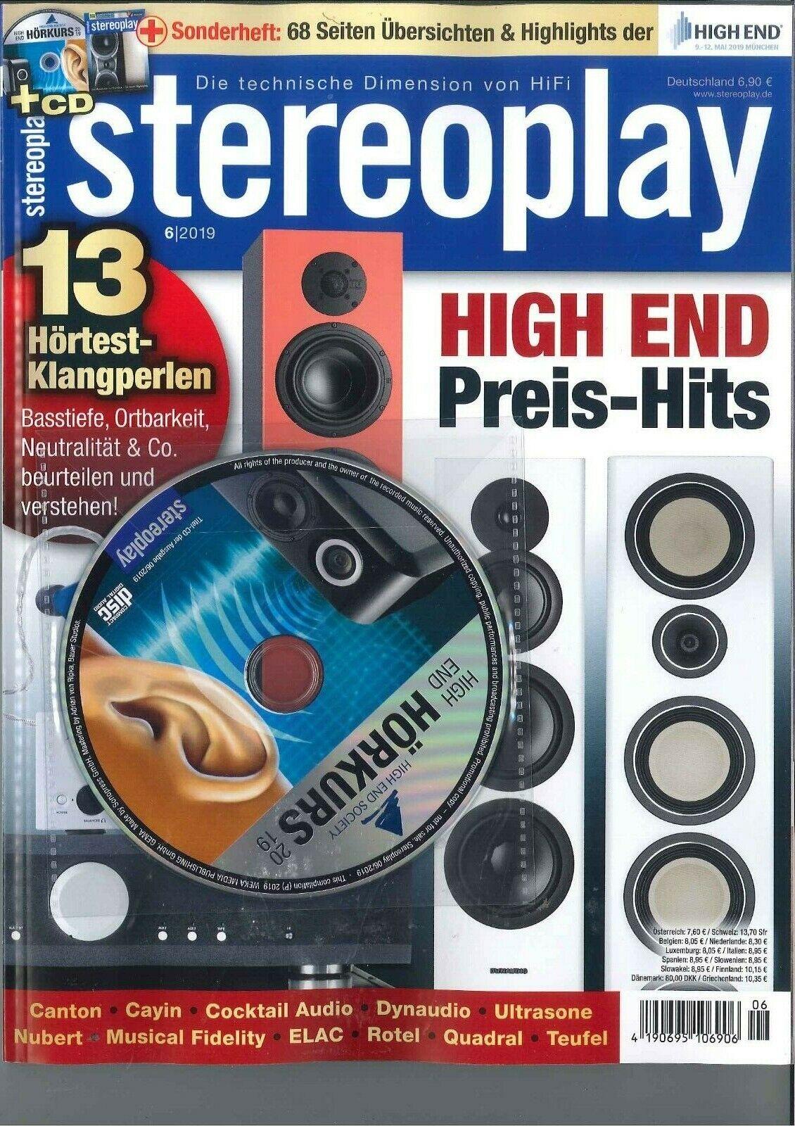stereoplay, 06/2019: High End Preis-Hits  ++ wie neu ++
