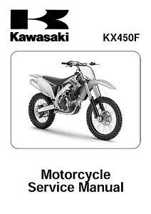 Kawasaki service workshop manual 2009, 2010 & 2011 KX450F