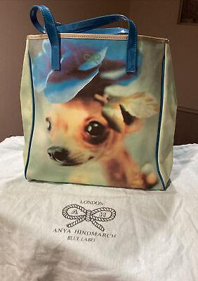 Anya Hindmarch Tote Bag Dog photo motif Nylon Leather chihuahua