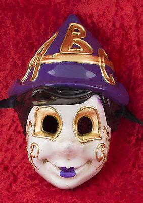 Mask Venice Pinocchio ABC purple Carnival venetian costume child 2450