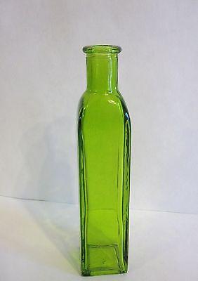 Vase 7 Inch Green Glass Bottle Flower