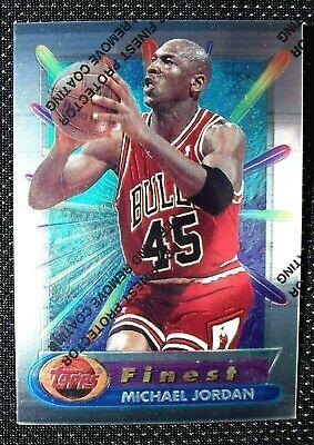 Michael Jordan 1994-95 Topps Finest #331 with coating, Bulls, HOF. SHARP !