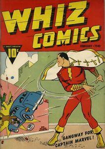 Whiz Comics #2 (1st Issue) Photocopy Comic Book, 1st Captain Marvel Shazam