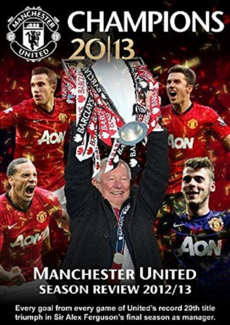 Manchester United Champions 2012/13 Season Review DVD Sport UK Rel New Sealed R2