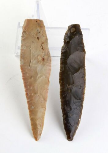 *SC* A NEARLY SUPERB PAIR OF DANISH NEOLITHIC SPEARPOINTS, 2500-2000 BC