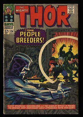 Thor #134 VG- 3.5 Marvel Comics 1st High Evolutionary!