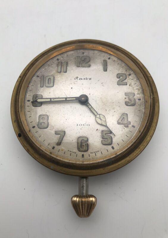 Vintage Antique IOCO Schild & Co Swiss 8 Day Clock Working