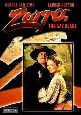 Zorro The Gay Blade  DVD  1981  George Hamilton  Lauren Hutton NEW!