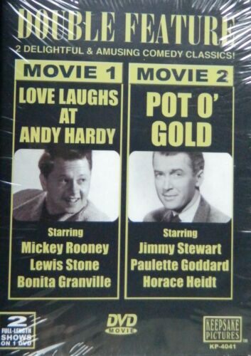 2 Comedies LOVE LAUGHS at ANDY HARDY and POT O' GOLD SEALED