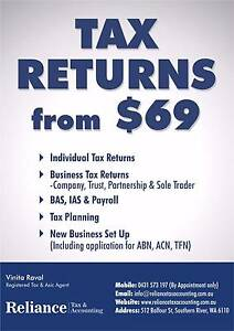 TAX RETURNS FROM $69.00 Southern River Gosnells Area Preview