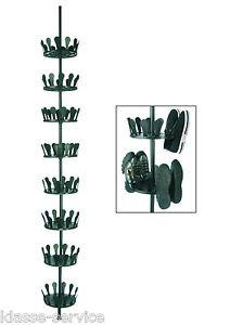 Teleskop Schuhkarussell Drehbar für 48 Paar Schuhe - Schuhregal Schuhschrank