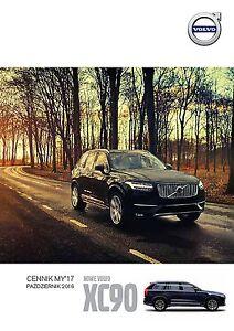 Volvo XC90 10 / 2016 catalogue brochure - <span itemprop='availableAtOrFrom'> Varsovie, Polska</span> - Volvo XC90 10 / 2016 catalogue brochure -  Varsovie, Polska