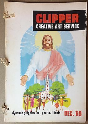 Clipper Creative Art 1969 Vintage Clip Art Book Dynamic Commercial Graphics