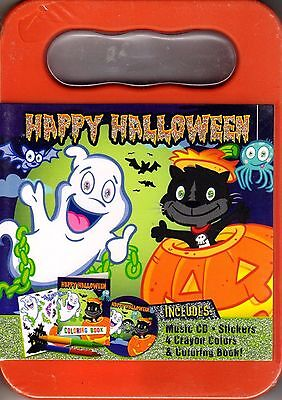 HAPPY HALLOWEEN KIDS ACTIVITY KIT w/ Music CD, Stickers, Crayons & Coloring Book ()