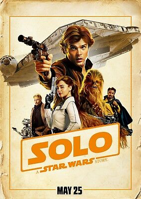 Solo A Star Wars Story Movie Poster  24X36    Emilia Clarke  Donald Glover V15