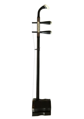 Erhu - Traditional Chinese Violin Handmade Ebony Wood 2 String Fiddle Instrument