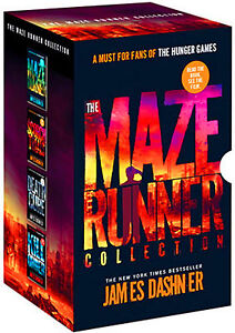 New The Maze Runner 4 books Boxed Set by James Dashner Paperback