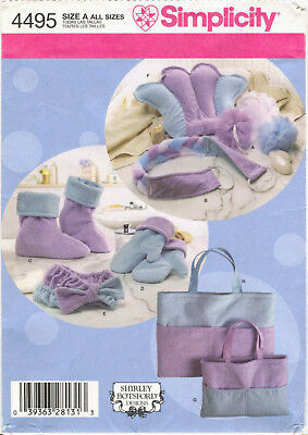 (Simplicity 4495 Spa Accessories Sewing Pattern Mitts Boots Head Wrap Totes ++)